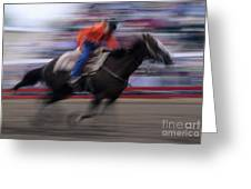 Rodeo Go For Broke Greeting Card by Bob Christopher