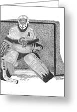 Goalie Greeting Card by Bob Garrison