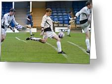 Goalkeeper Kicking Sequence Greeting Card by David Birchall