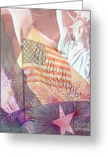 God Bless The Usa Greeting Card by Cheryl Young