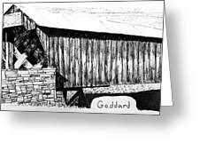 Goddard Covered Bridge Greeting Card by Kyle Gray