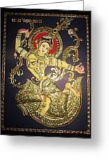 Goddess Tara Greeting Card by Asha Nayak
