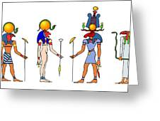 Gods And Goddess Of Ancient Egypt Greeting Card by Michal Boubin