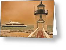Godspeed At Brant Point Nantucket Island Greeting Card by Jack Torcello