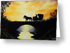 Going Home From Work Greeting Card by David Paul