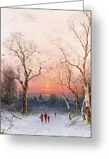 Going Home Greeting Card by Nils Hans Christiansen