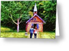 Going To The Chapel Greeting Card by Jai Johnson