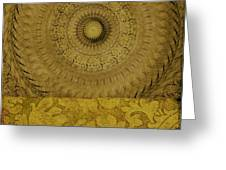 Gold Wheel I Greeting Card by Ricki Mountain
