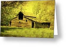 Golden Barn Greeting Card by Julie Hamilton
