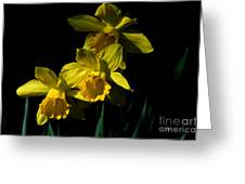 Golden Bells Greeting Card by Lois Bryan