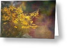 Golden Greeting Card by Brenda Bryant