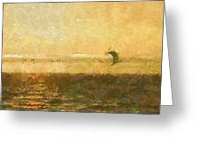 Golden Day Painterly Greeting Card by Ernie Echols