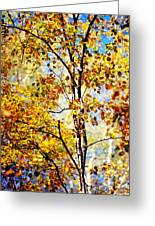 Golden Dress Haute Couture. Inspired By Autumn Greeting Card by Jenny Rainbow