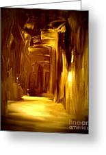 Golden Future Greeting Card by Julie Lueders