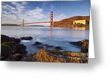 Golden Gate At Dawn Greeting Card by Brian Jannsen