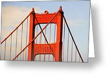 Golden Gate Bridge - Nothing Equals Its Majesty Greeting Card by Christine Till