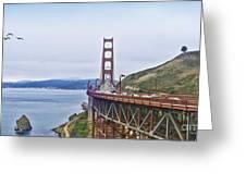 Golden Gate Bridge Greeting Card by Betty LaRue