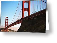 Golden Gate Bridge Sausalito Greeting Card by Doug Sturgess