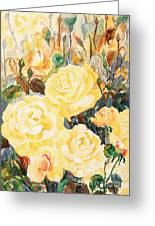 Golden Glow For My Heart Greeting Card by Phong Trinh