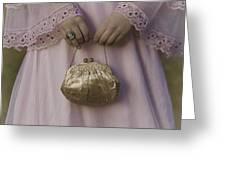 Golden Handbag Greeting Card by Joana Kruse