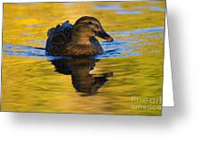 Golden Hen Greeting Card by Mike  Dawson