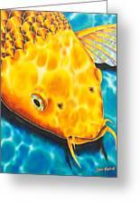 Golden Koi Greeting Card by Daniel Jean-Baptiste