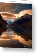 Golden Light On The Rockies Greeting Card by Tara Turner