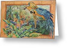 Golden Paradise Greeting Card by Deborah Younglao
