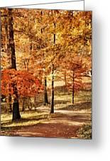 Golden Path Greeting Card by Jai Johnson