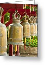 Golden Prayer Bells Greeting Card by Ulrich Schade