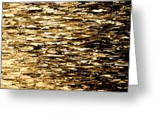 Golden Reflections Greeting Card by Kume Bryant