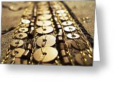 Golden Sequins Highway Greeting Card by Sumit Mehndiratta
