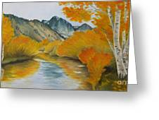 Golden Serenity Greeting Card by Jindra Noewi