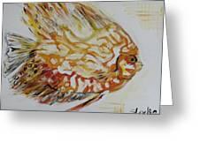 Golden Greeting Card by Sladjana Endt
