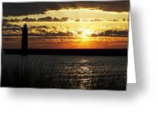 Golden Sunset Greeting Card by Joe Gee