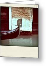 Gondola.venice.italy Greeting Card by Bernard Jaubert