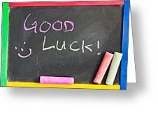 Good Luck Greeting Card by Tom Gowanlock