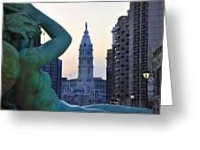 Good Morning Philadelphia Greeting Card by Bill Cannon