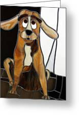 Goofy Dog Greeting Card by Jane Croteau