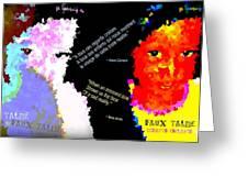 Google The Word - Talibe Greeting Card by Fania Simon