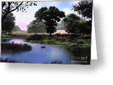 Goose Pond Greeting Card by Robert Foster