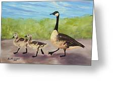 Goose Step Greeting Card by Alan Mager