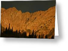 Gore Range Alpenglow Greeting Card by Bob Berwyn