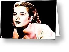 Grace Kelly Greeting Card by The DigArtisT
