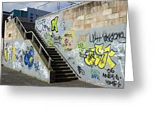 Graffiti Greeting Card by Mark Williamson