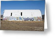 Graffiti on Abandoned Equipment Shed Greeting Card by Paul Edmondson