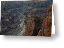 Grand Canyon-aerial Perspective Greeting Card by Douglas Barnard