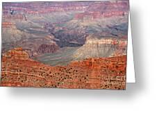 Grand Canyon Crimson Ridge Greeting Card by Michael Kirsh
