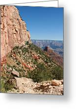 Grand Canyon National Park Bright Angel Loop Arizona Usa Greeting Card by Audrey Campion