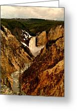 Grand Canyon Of The Yellowstone Greeting Card by Ellen Heaverlo